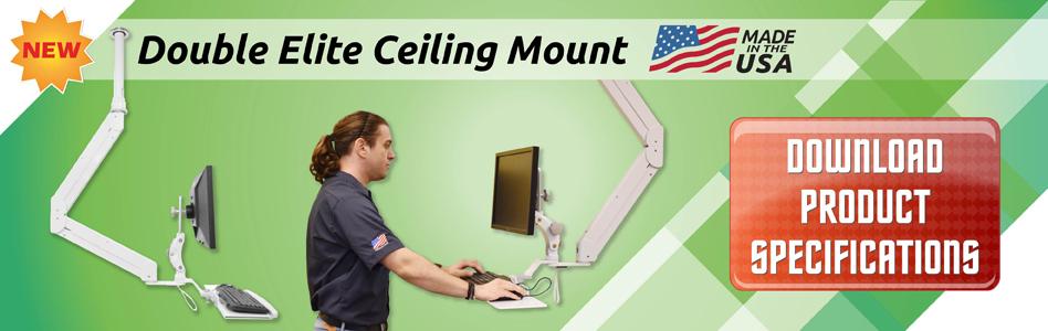 Double Elite Ceiling Mount