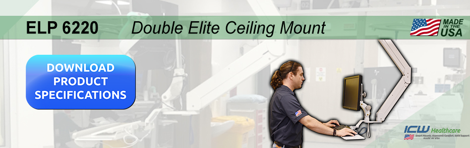 Healthcare Banner 7 Double Elite Ceiling Mount